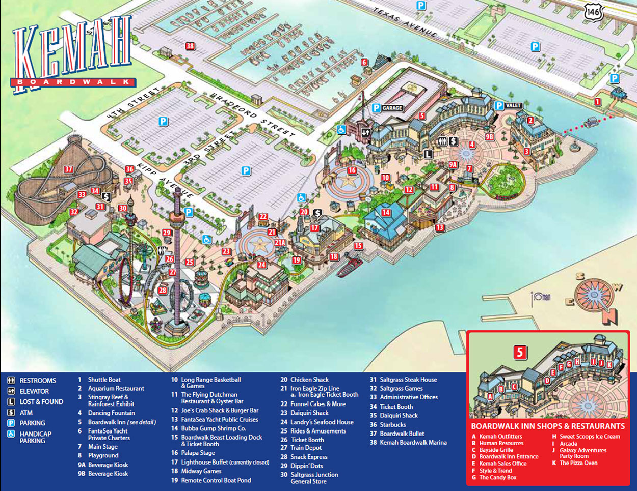 Kemah Boardwalk The Fun Never Stops – Houston Tourist Attractions Map