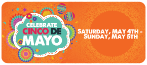 Celebrate Cinco De Mayo at the Kemah Boardwalk on May 4th and 5th.
