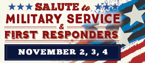 Salute to Military Service and First Responders Graphic. Click for details.