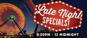 Late Night Specials - Happy Hour Specials.