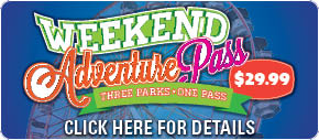 Weekend Adventure Pass give patrons access to Three parks with one pass. More details link.